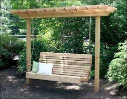 Wooden Garden Swing Seat Plans by Freestanding Yard Swings It U0027s A Compact Arbor That Is Cleverly