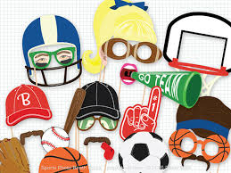 Photo Booth Equipment Sports Party Photo Booth Props Sporty Photobooth Basketball