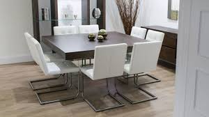 6 Seater Dining Table Design With Glass Top Square Dining Room Table Provisionsdining Com