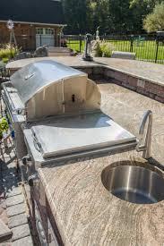 Outdoor Kitchen With Sink New Granite Countertop Outdoor Kitchen