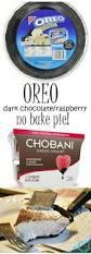 dark chocolate raspberry no bake pie debbiedoos