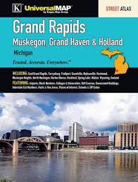 Grand Haven Map Grand Rapids Street Atlas Muskegon Grand Haven U0026 Holland By
