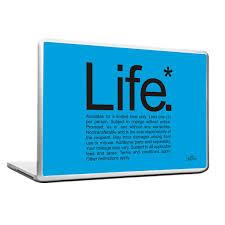 cool funky funny life laptop skin vinyl decals blue u2013 stuffpanda