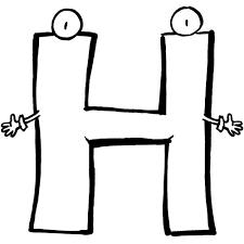 petits d gourdis coloriage lettre de l alphabet lettre h imprimer
