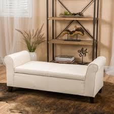 Padded Bench Seat With Storage Extra Long Storage Bench Seat Wayfair