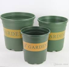 pack injection molded grow pot plastic round duty hard planting
