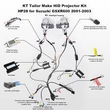 suzuki gsxr600 hid projector kit hp28 2001 2001 2002 2003