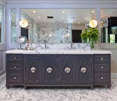 Contemporary Bathroom Wall Sconces Gray Double Vanity Contemporary Bathroom Jeff Lewis Design