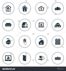 Synonyms Comfort Vector Illustration Set Simple Real Icons Stock Vector 675572203