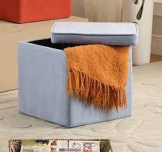 Orange Storage Ottoman Office Star Metro 2piece Storage Ottoman Cube Set In Eco Leather