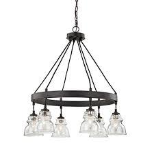 Chandelier And Pendant Lighting by Fifth And Main Lighting 6 Light Antique Bronze Pendant With Clear