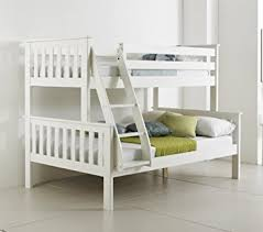 Happy Beds Bunk Bed Atlantis Pinewood White Triple Sleeper Quality - Triple trio bunk bed