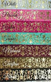 wholesale ribbon supply 7 8 gold foil scrolls ribbon us designer ribbon wholesale