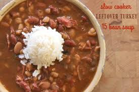 leftover turkey cajun 15 bean soup cooker recipe basilmomma