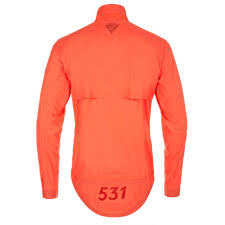 cycling shower jacket paul smith 531 orange wind and shower resistant packable cycling