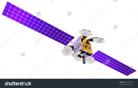 3d model artificial satellite earth equipped stock illustration