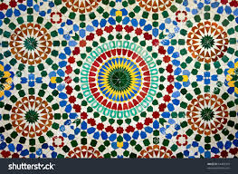Moroccan Pattern Art Moroccan Wall by Colorful Moroccan Mosaic Wall Stock Photo 64409479 Shutterstock