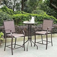 Bar Height Patio Furniture by Patio Bistro Table Set U2013 Smashingplates Us