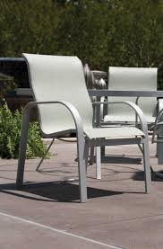 Winston Patio Furniture by Winston Seagrove Ii Sling Aluminum High Back Dining Chair M62001