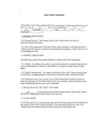 53 simple joint venture agreement templates pdf doc template lab