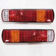 led lights for trucks and trailers 2 x led rear tail lights truck lorry trailer fits iveco scania volvo