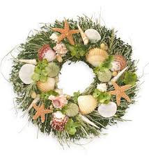 seashell wreath seashell wreath home decor plow hearth