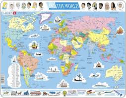 map world nz larsen tray children s jigsaw puzzles available nz at www
