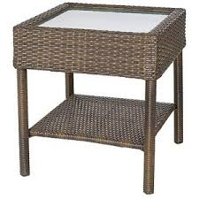 Patio Accent Table Patio Side Table Rolston Wicker Patio Accent Table Threshold