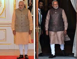 modi dress modi wore white and blue bandhgala suit on his historic trip to