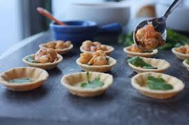 shoing canapé chickpea chole canapes recipe on food52