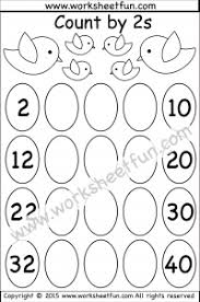 skip counting by 2 u2013 count by 2s u2013 1 worksheet free printable