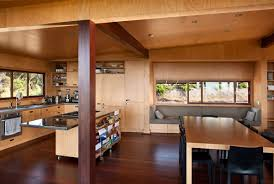 kitchen island dining table tutukaka house in new zealand by