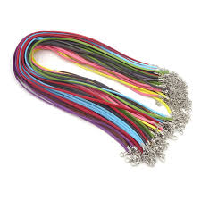 colored rope necklace images 100pcs mix color suede cord 3mm flat leather cord necklace 18 jpg