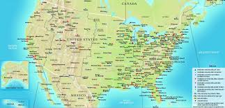 Unites States Map by Physical Map Of The United States