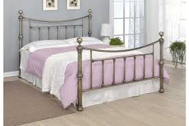 stratford contemporary antique brass effect bed frame double king
