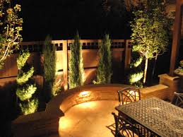 Outdoor Flood Lighting Ideas by Lighting Modern Outdoor Lighting Design With Wooden Outdoor