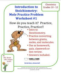 classroom freebies chemistry mole stoichiometry practice problem