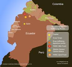 Colombian Map Ecuador Battleground Between Mexican And Colombian Cartels