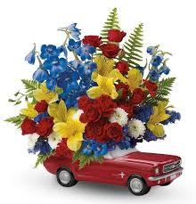flowers for men 1965 ford mustang flower bouquet kremp