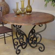 Rod Iron Dining Room Set Home Design Wrought Iron Dining Table Bases Wood Base For