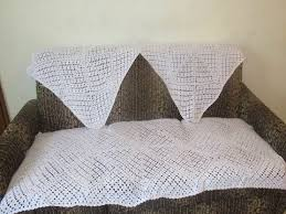 Crochet Armchair Covers Making Of Square Sofa Cover Using Crochet Hindi Youtube