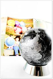 creative globe money box earth model piggy bank desktop ornaments