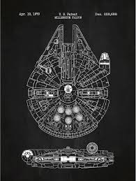 star wars ship floor plans amazon com inked and screened star wars millennium falcon design