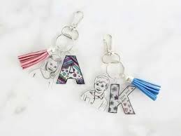 keepsake keychains shrinky dink keepsake keychains unique personalized gift for
