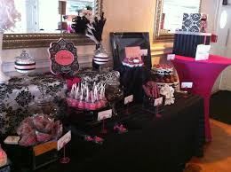 Pink And Black Candy Buffet by Candy Buffets Slique Designs