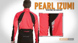 softshell cycling jacket pearl izumi pro soft shell 180 cycling jacket for men youtube