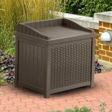 Wicker Storage Bench Rubbermaid Patio Storage Bench Photo On Breathtaking Resin Bench