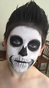Halloween Skeleton Faces by Kids Skeleton Face Paint For Halloween Skeleton Costume Kids