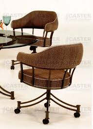 Dining Chairs With Casters Tempo Furniture Lodge Swivel U0026 Tilt Dining Arm Chair With Casters