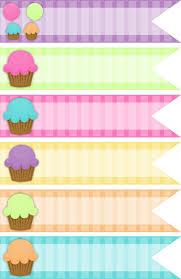birthday ribbons free cupcake digital ribbons the happy birthday keren collection